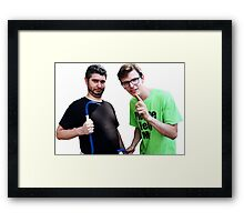 Idubbbz and Ethan Klein of h3h3 Framed Print