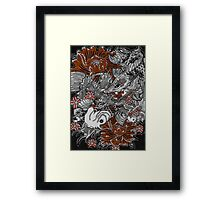Koi fish and koi dragon Framed Print
