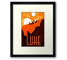 Luke - Son of the Chosen One Framed Print