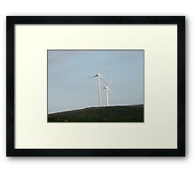 wind turbines Framed Print