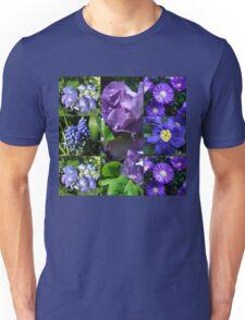 Floral Collage Featuring Fragrant Floribunda Roses Unisex T-Shirt