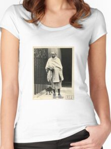 Gandhi In Timbs Women's Fitted Scoop T-Shirt