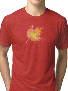 Autumn Leaves / Fall Leaf - Watercolor Painting - Tshirts + More! Halloween Jonny2may / J2Art Tri-blend T-Shirt