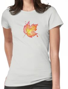 Autumn Leaves / Fall Leaf - Watercolor Painting - Tshirts + More! Halloween Jonny2may / J2Art Womens Fitted T-Shirt