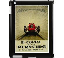 """PERVGINA GRAND PRIX"" Vintage Auto Racing Print iPad Case/Skin"