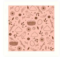 Robin Egg Pink Art Print