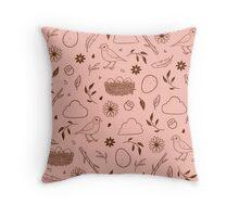 Robin Egg Pink Throw Pillow