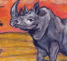 Big 5 - Rhinoceros by Mariaan M Krog Fine Art Portfolio