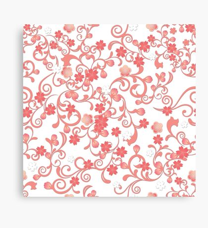 Abstract Cherry Blossoms Canvas Print
