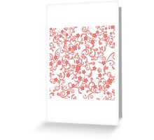 Abstract Cherry Blossoms Greeting Card