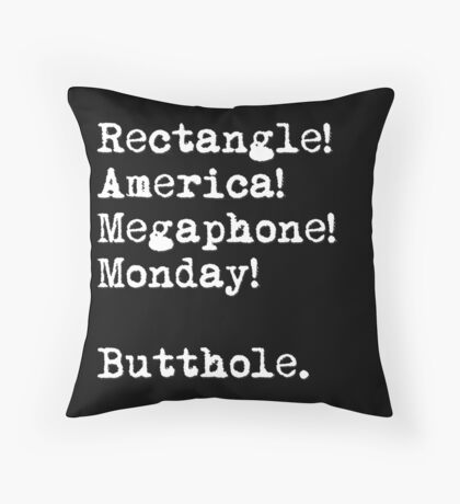 All The Words Ron Swanson Knows. Throw Pillow