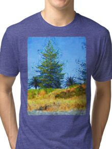 Majestic Trees next to the Beach 2 Tri-blend T-Shirt