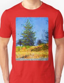 Majestic Trees next to the Beach 2 Unisex T-Shirt