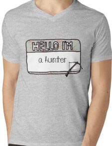 Hello I'm [A Hunter] Mens V-Neck T-Shirt