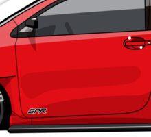 Jay's Red Scion iQ Track 'Micro Machine' Sticker