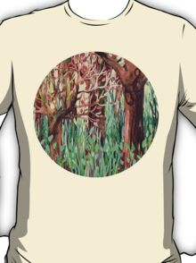 Lost in the Forest - watercolor painting collage T-Shirt