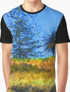 Majestic Trees next to the Beach 3 Graphic T-Shirt