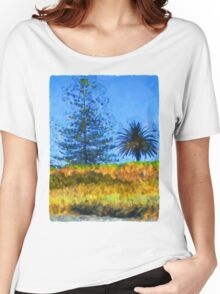 Majestic Trees next to the Beach 3 Women's Relaxed Fit T-Shirt