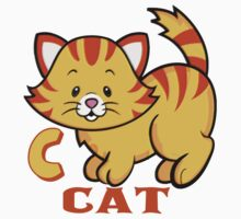 C is for Cat One Piece - Short Sleeve