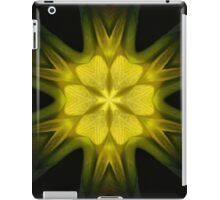 Yellow Psychedelic Flower iPad Case/Skin