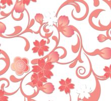 Abstract Cherry Blossoms Sticker