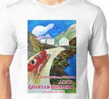 """SAN BERNARDO GRAND PRIX"" Vintage Auto Racing Print Unisex T-Shirt"