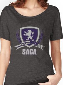 SAGA Official Merchandise BLACK Women's Relaxed Fit T-Shirt