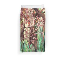 Lost in the Forest - watercolor painting collage Duvet Cover