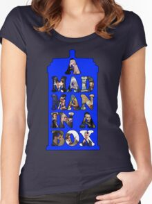 A mad man in a box Women's Fitted Scoop T-Shirt