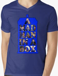 A mad man in a box Mens V-Neck T-Shirt