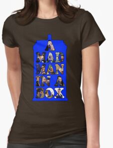 A mad man in a box Womens Fitted T-Shirt