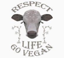 RESPECT LIFE - GO VEGAN Kids Clothes