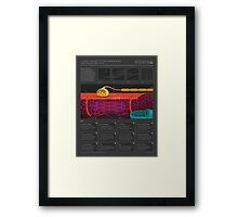 A user's guide to muscles Framed Print