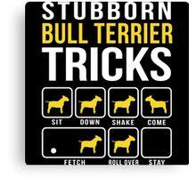 Stubborn Bull Terrier Tricks Canvas Print