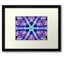 Purple Blue Psychedelic Flower Framed Print