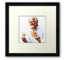 Joe Biden Eating Ice Cream Framed Print