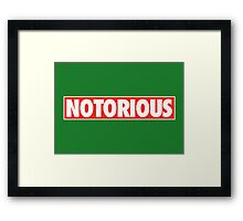 Notorious Obey Framed Print
