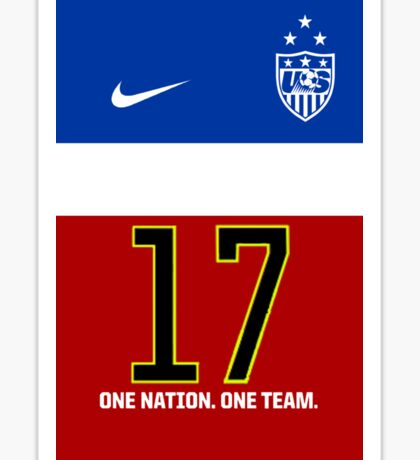 USWNT Tobin Heath 2014 Jersey Sticker