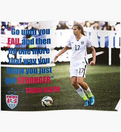 USWNT Tobin Heath Quote Poster