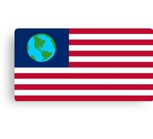 flag of earth Canvas Print