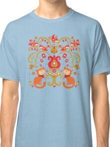 Rissian Kitties and Birds Love Tree. Classic T-Shirt