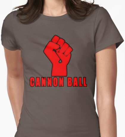 Cannon Ball North Dakota Power Womens Fitted T-Shirt
