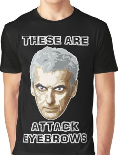 Doctor Who 12 Peter Capaldi - Attack Eyebrows Graphic T-Shirt