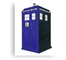 Tardis - Hand Drawn and Colored Canvas Print