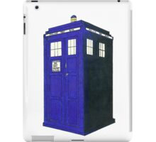 Tardis - Hand Drawn and Colored iPad Case/Skin