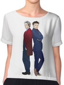 Doctor Who - Doctor 10 & Doctor 12 Chiffon Top