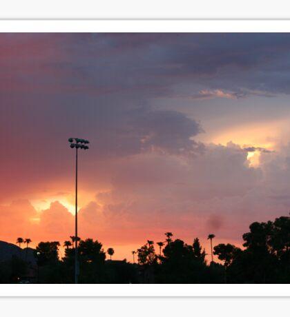 Light clouds meet dark  Sticker
