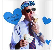 Joe Biden Eating Ice Cream Poster