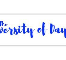 University of Dayton (white) Sticker