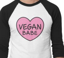 Vegan Babe Men's Baseball ¾ T-Shirt